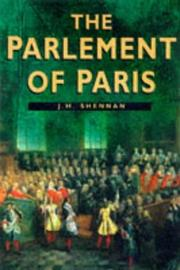 Cover of: The Parlement of Paris
