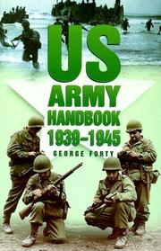 Cover of: U.S. Army handbook, 1939-1945