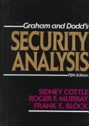 Cover of: Security Analysis | Sidney Cottle