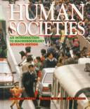 Cover of: Human societies