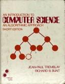 Cover of: An Introduction to Computer Science | Jean-Paul Tremblay