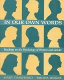 Cover of: In our own words |