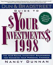 Cover of: Dun & Bradstreet Guide to Your Investments 1998