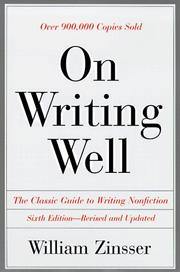 Cover of: On writing well by William Zinsser