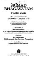Cover of: Srimad Bhagavatam: Twelfth Canto - Part I