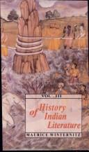Cover of: History of Indian Literature, Volume 3 | Maurice Winternitz