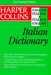 Cover of: Collins English-Italian, Italian-English dictionary |