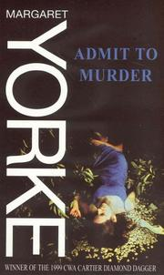 Cover of: Admit to murder