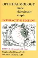Cover of: Ophthalmology Made Ridiculously Simple, Third Edition (Book & Interactive CD) | Stephen Goldberg