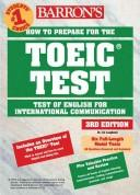 Cover of: How to Prepare for the TOEIC Test Audio CD Pack