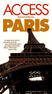 Cover of: Access Paris (5th ed.) | Richard Saul Wurman