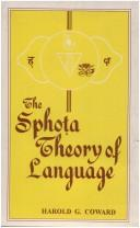 Cover of: Sphota Theory of Language