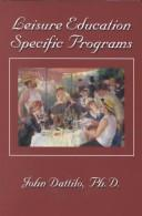 Cover of: Leisure education specific programs