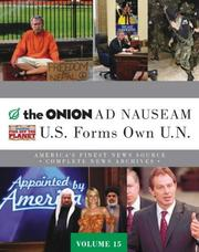 "Cover of: The ""Onion"" Ad Nauseam Complete News Archives Volume 15"