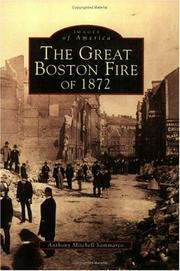Cover of: The Great Boston Fire of 1872