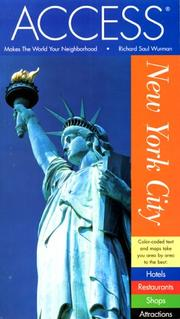 Cover of: Access New York City 9e (Access New York City, 9th ed) | Richard Saul Wurman