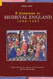 Cover of: A Companion to Medieval England 1066-1485 (Revealing History)