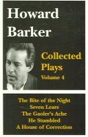 Cover of: Howard Barker