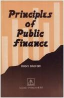 Cover of: Principles of public finance