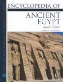 Cover of: Encyclopedia of Ancient Egypt (Facts on File Library of World History) | Margaret Bunson