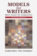 Cover of: Models for writers