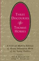 Cover of: Three Discourses