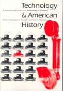 Cover of: Technology and American History |