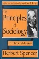 Cover of: The Principles of Sociology