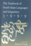 Cover of: The Yearbook of South Asian Languages and Linguistics, 1999 (Yearbook of South Asian Languages and Linguistics)