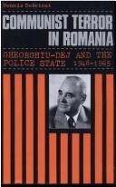 Cover of: Communist Terror in Romania