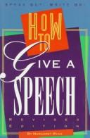 Cover of: How to Give a Speech (Speak Out, Write on)