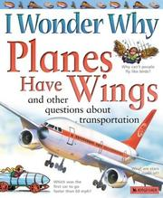 Cover of: I wonder why planes have wings and other questions about transportation