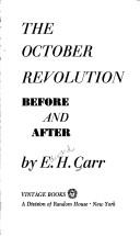 Cover of: The october revolution