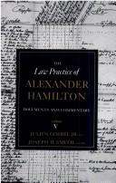 Cover of: The law practice of Alexander Hamilton