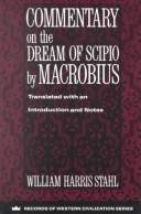 Cover of: Commentary on the dream ofScipio