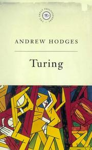 Cover of: Turing (Great Philosophers) | Andrew Hodges