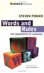 Cover of: Words and Rules (Science Masters)
