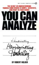 Cover of: You Can Analyze Your Handwriting