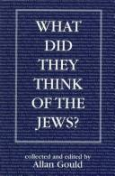 Cover of: What Did They Think of the Jews?