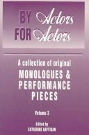 Cover of: By actors, for actors | edited by Catherine Gaffigan.