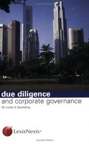 Cover of: Due Diligence and Corporate Governance