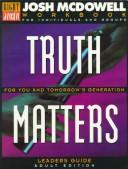 Cover of: Truth Matters for You and Tomorrow's Generation