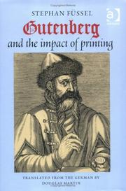 Cover of: Gutenberg and the impact of printing