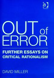 Cover of: Out of error
