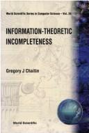 Cover of: Information-theoretic incompleteness