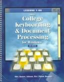 Cover of: Gregg College Keybroading and Document Processing for Windows | Scot Ober