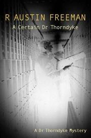 Cover of: A Certain Dr Thorndyke