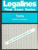 Cover of: Legalines: Torts Questions and Answers (Legalines Final Exam Series)