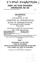 Cover of: Energy and water development appropriations for 1997: Hearings before a subcommittee of the Committee on Appropriations, House of Representatives, One Hundred Fourth Congress, second session