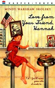 Cover of: Love from your friend, Hannah